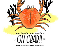OH CRAB! - Summer Pattern Design
