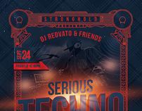 Serious Techno Nightclub Event Flyer Template