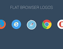 FREE | Flat Browser Logotypes
