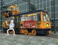 """3D работа """"Трамвай"""""""