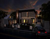Modern House - Night Mode
