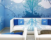 Mural Azul