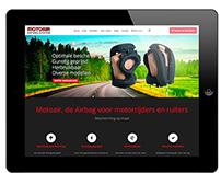 Responsive website met webwinkel