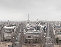 Eiffel Tower and Arc de Triomphe Pano's