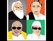 Tamil Nadu Leaders - Vector - 1 @ Karthikeyan R