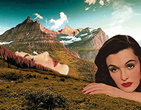 pink mountaintops / collage