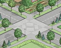Landscape in isometria