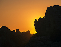 Torcal Antequera. Sunset, supermoon and Sunrise.
