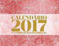 CALENDÁRIO 2017 DA KABBALAH
