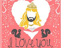 Princess Daddy - Spaghetti Toes Print - Stuff my 2 year