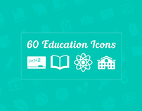 60 Education Vector Icons Freebie