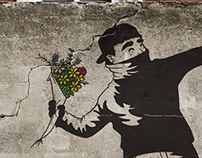 Flower Chucker / Banksy