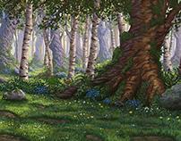 Digital Illustration: Enchanted Forest