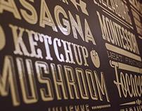 "Typogrphy menu pizza ""Zorro"""