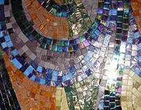Glass Mosaic on glass wall