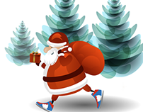 start to run with santa