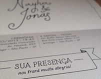 Nayha & Jonas - Wedding invitations