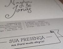 Nayha & Jonas - Wedding invitations