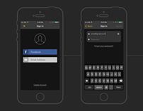 SoundHound iOS7 User Registration & Sign In
