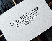 Business Card / Lara Wechsler