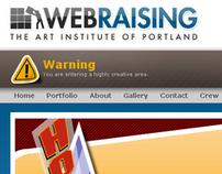 Art Institute of Portland's Web Raising Site