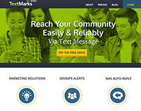 TextMarks Homepage Redesign