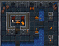 Top-down roguelike dungeon tileset.