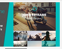 Photography PSD Theme Template