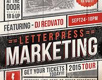 Vintage Letterpress Event Flyer Template