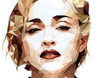 Madonna Geometric Portrait