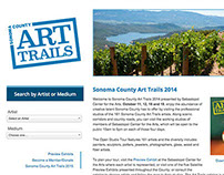 Sonoma County Art Trails Web Design and Development