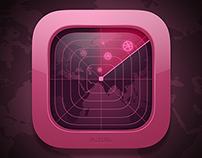 Dribbble radar iOS app icon