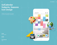 SolCalendar Subjects, Seasons Icon Design