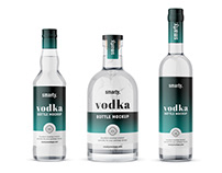 Vodka bottle mockups