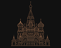 Moscow Lineart Illustrations