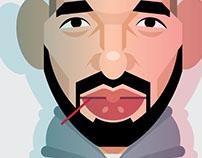 Drake caricature
