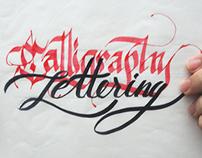 Praticando caligrafia e lettering