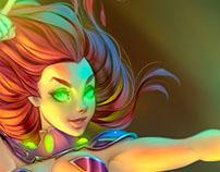 Starfire Teen Titans | DC Comics Fanart