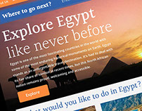 Wish I Was There / Egypt (A Travel Website)