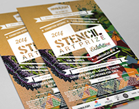 2014 Stencil Art Prize Exhibition Poster