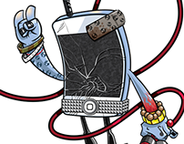 Character Designs: iPhone's night out