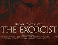 The exorcist poster (fictif) Before and after