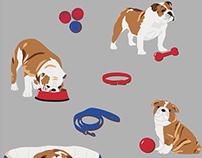 Cath Kidston British Bulldog Print