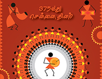 Chennai day_Folk art Poster design@Karthkeyan R