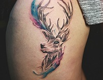HART WATERCOLOR TATTOO
