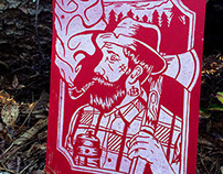 Lumberjack Block/Linocut Print