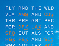 KLM Flight Destination Codes