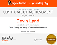 Color Theory Certificate