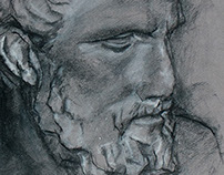 Study of Hippocrates bust