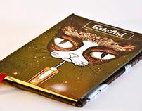 Cuadernos cosidos a mano con tapas en lienzo